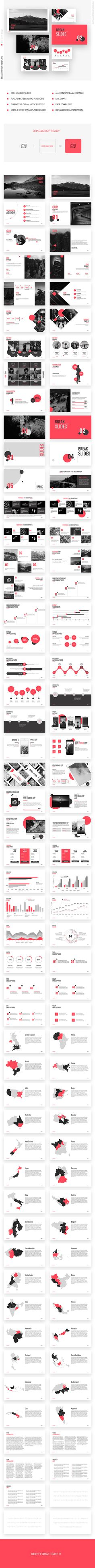 Point Red Presentation Template Powerpoint