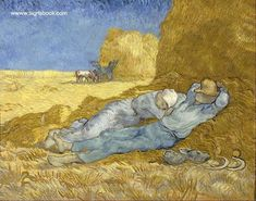 Vincent van Gogh (1853-1890) The Siesta (after Millet)(Dec. 1889-Jan. 1890) Oil on canvas 73 x 91 cm. Musée d'Orsay Paris