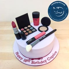 Make up cake, made by The Foxy Cake Co!