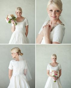 Love this jeweled neckline!  via Kate Benson Photography