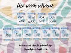 A Week Ahead spread to use with your Tarot and/or Oracle decks!
