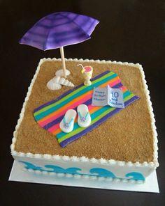 Awesome Image of Beach Birthday Cakes Beach Birthday Cakes Birthday Beach Cakes Beach Theme Cake Contest Cake Decorating Beach Themed Cakes, Themed Birthday Cakes, Theme Cakes, Beach Cake Birthday, Diy Birthday, Fancy Cakes, Cute Cakes, Fondant Cakes, Cupcake Cakes