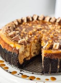 Snickers Cheesecake. Because this is not a time for restraint