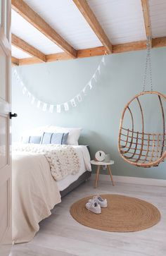 unique bedroom design and decor ideas you will love it 38 Pastel Bedroom, Bedroom Green, Home Bedroom, Modern Bedroom, Bedroom Decor, Unique Teen Bedrooms, Pastel Room Decor, Scandi Bedroom, Small Bedrooms