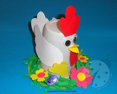 Clown Crafts, Duck Crafts, Crab Crafts, Diy And Crafts, Easter Art, Easter Crafts, Spring Theme, Art N Craft, Craft Club