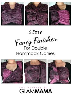 There's no need to feel overwhelmed by fancy finishes - here are six EASY fancy finishes for Double Hammock carries that you can master in no time! Key words: Babywearing, Fancy Finishes, Oscha Slings, Oscha Rei Electric Dreams, Oscha Rei, baby wrapping, baby wearing, babywearing, fancy finish double hammock.