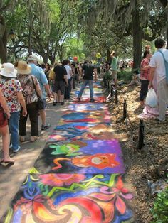 Community sidewalk chalk art community art pinterest for Raumgestaltung ogs