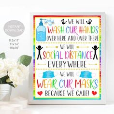 Health And Safety Poster, Safety Posters, School Counselor Office, Nurse Office, Popcorn Gift, Therapist Office, School Health, Classroom Posters, School Posters