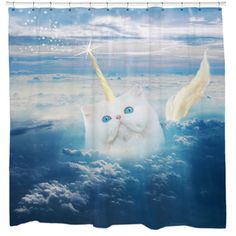 Caticorn Cat Unicorn Shower Curtain - Overstock™ Shopping - The Best Prices on Bath Decor