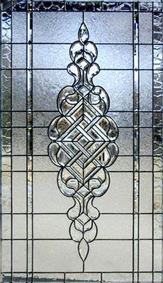 CH690P Large Leaded Glass Beveled Window Custom Glass Design.
