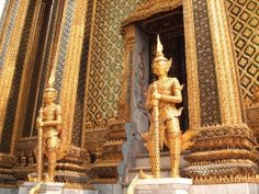 the Golden temple in Bangkok, and yes it is made out of gold and jewels, I was able to visit when I was younger