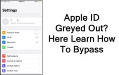 #Apple #ID Is #Greyed #Out? Here How To #Bypass. Check #AppleSystem #Status. Use #ScreenTime #Passcode To #Fix #AppleID #GreyedOut. #Reset All #Settings. Use Apple ID To Fix Apple ID Greyed Out #Issue. Bypass Apple ID Greyed Out Using #iOSUnlock #Software. Settings App, Airplane Mode, Data Recovery, Ios, Software, Apple, Grey, Check, Apple Fruit