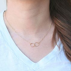 The Everlasting Ring Necklace by Two Little Doves