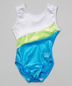Look at this #zulilyfind! Blue & White Scarlett Leotard - by SBD Sportswear on zulily for the next 3 days for only $21.99!! what a deal!