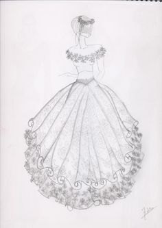 ball gown coloring page for girls printable free