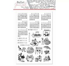 25 Tampons caoutchouc montés en mousse 'Aladine - Stampo Bullet' Mois universels Bujo, Tampon Scrapbooking, Art Origami, Mousse, Tampons Transparents, Stamp, Words, How To Make, Service Client