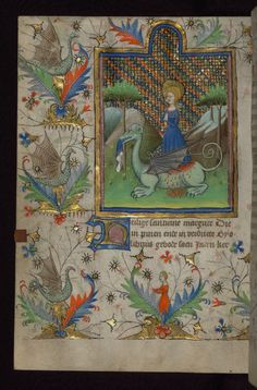 Amherst Hours, St. Margaret, with dragons, Walters Manuscript W.167, fol. 101v | by Walters Art Museum Illuminated Manuscripts