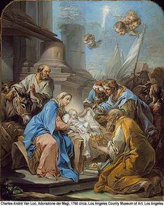 Solemnidad de la Epifanía del Señor, en la que se recuerdan tres manifestaciones del gran Dios y Señor nuestro Jesucristo: en Belén, Jesús niño, al ser adorado por los magos; en el Jordán, bautizado por Juan...  http://evangeliodeldia.org/main.php?language=SP&module=saintfeast&localdate=20170106&id=337&fd=1
