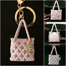 Beautiful Pink Handbag Charm Rhinestone Diamante Keyring Chain Xmas Gift Present Handbags Charms