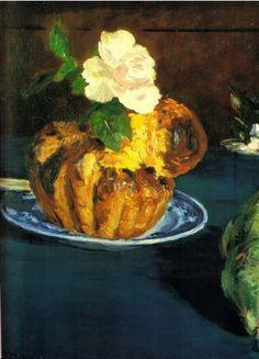 La brioche Manet peinte en 1876 est inspirée de celle de Chardin peinte en 1763