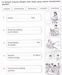 KSSR Bahasa Malaysia Tahun 1: November 2011 Free Kindergarten Worksheets, Kindergarten Math Worksheets, 1st Grade Worksheets, Worksheets For Kids, Learning Phonics, Preschool Learning Activities, Preschool Printables, Free Printables, Kids Learning