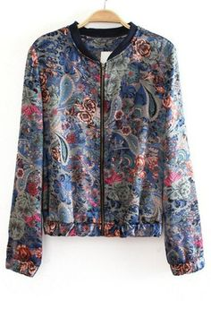 Street-chic Paisley Jacket
