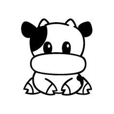 Stickers Petite vache manga