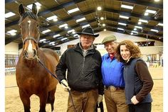 Martin Clunes, Monty Roberts and Kelly Marks with lovely Chester