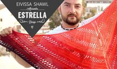Craft Lovers ♥ Eivissa Shawl knitted with Katia Ombré by Alessandro Estrella Knitted Shawls, Crochet Scarves, Knitting Yarn, Free Knitting, Prayer Shawl, Circular Needles, Knit Or Crochet, Neck Warmer, Knitting Projects
