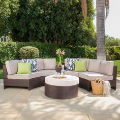 Home Loft Concepts Ibarra Zanzibar 6 Piece Sectional Seating Group with Ottoman Color: Beige
