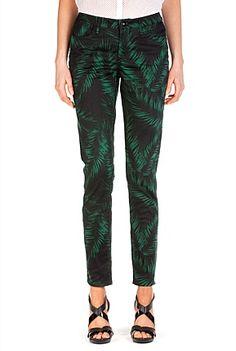 Palm Print 7/8 Jean