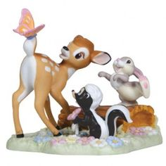 Precious Moments Figurines - Disney - Delight In The Little Joys Of Life - Disney Bambi And Friends Figurine Disney Precious Moments, Precious Moments Figurines, Disney Figurines, Collectible Figurines, Bambi And Thumper, The Fox And The Hound, Joy Of Life, Lady And The Tramp, Disney Love