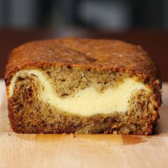 Cheesecake-filled Banana Bread by Tasty