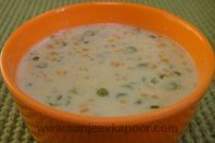 Creamy Vegetable Soup: A wonderful combination of vegetables and white sauce.