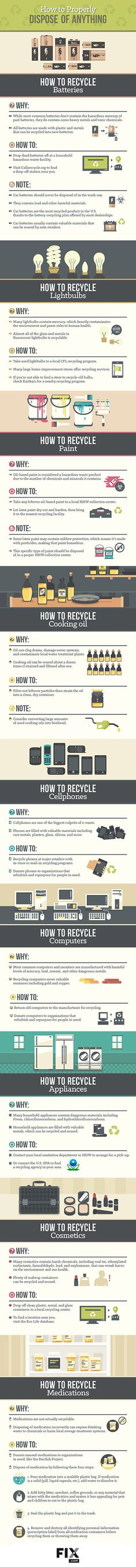 Out with the old and in with the new for 2016? Be sure you're recycling items properly. Here are some helpful tips for batteries, electronics, cooking oil and more.