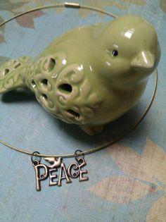Handmade peace wire choker by joannestanley13 on Etsy, $12.00