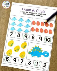 Are you looking for Dinosaur theme counting activities for your Dinosaur lover kids? This NO-PREP Dinosaur Math Preschool and Kindergarten is perfect for you! Jam-packed with adorable Dinosaurs cut & paste activities and 10-frames counting, your Dinosaur obsessed kids will definitely love this pack. Dinosaur Printables, Dinosaur Activities, Counting Activities, Math Games, Learning Numbers Preschool, Subtraction Activities, Math Centers, Dinosaurs, Kindergarten