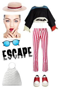 """""""Escape"""" by zabead ❤ liked on Polyvore featuring Chloé, Dondup, Proenza Schouler, Maison Michel, Ray-Ban and Michael Kors"""