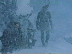 I love how they are all just trudging through the snow and Leoglas is just walking on top if it.