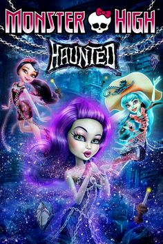 Monster High: Haunted, Movie on DVD, Family Movies, Animation 2015 Movies, Hd Movies, Movies To Watch, Movies Online, Movie Tv, Monster High, Ghost School, High School, Reserva India