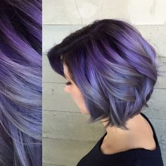 Pulp riot - mermaid bright hair colour & curls - purple grey smokey