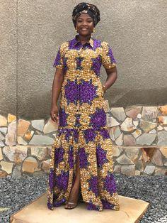 African Fashion Ankara, Latest African Fashion Dresses, African Print Fashion, African Attire, African Wear, African Dress, Ankara Dress Styles, Flare Dress, Women Wear