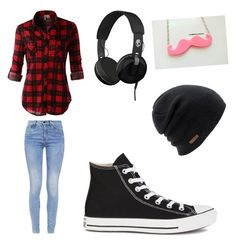 """markiplier outfit"" by cma9502 ❤ liked on Polyvore featuring LE3NO, Skullcandy, G-Star, Converse and Coal"