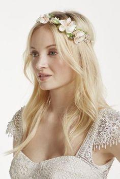 Soft Tieback Floral Headband at David's Bridal