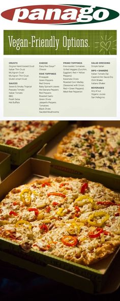 Panago Pizza Offers a HUGE List of Vegan Menu Options including dairy-free cheese, meatless pepperoni & gluten-free crust. Details ...