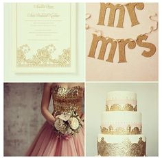 Cute gold collage