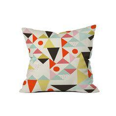 """My design inspiration: Modern Art Throw Pillow 18"""" on Fab."""