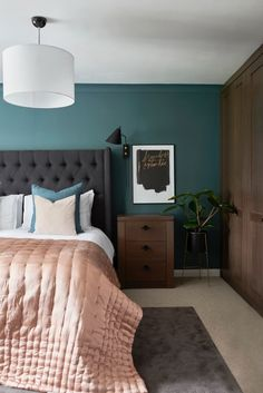 51 Cozy Grey Bedroom Designs With Upholstered/Tufted Headboard T Home Decor  Bedroom, Living