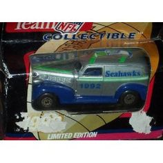 Seattle Seahawks 1992 NFL Diecast Chevy Sedan Truck Collectible Limited Edition Car by White Rose Matchbox by NFL  $11.50