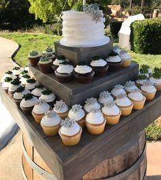 Cupcake Stand - Wedding Cupcake Holder - Cupcake Display - Cake Stand - Cake Display - Stackable up to 3 tiers 3 Tier Cupcake Stand, Cupcake Stand Wedding, Wedding Cake, Rustic Cupcake Stands, Tier Cake, Cupcake Stands For Weddings, Rustic Wedding Cupcakes, Cake Stand Display, Cupcake Display